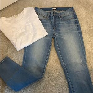 J. Crew faded jeans